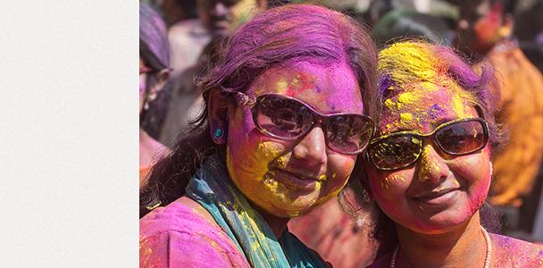 Фестивалът Холи, Шантиникетан, Индия
